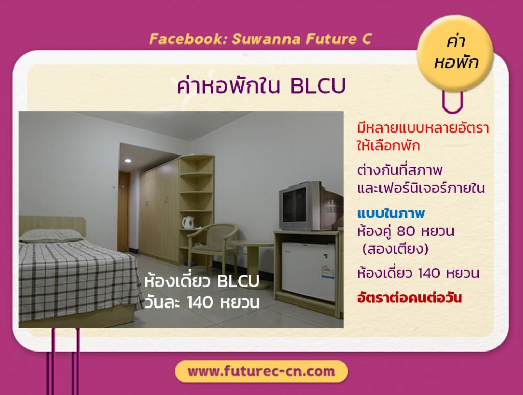 ค่าหอพัก BLCU 2020