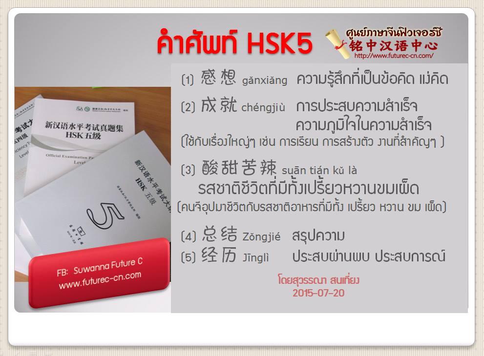 HSK5 voc. 5 words