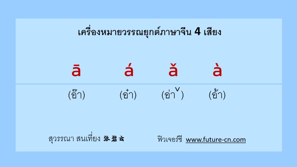 pinyin วรรณยุกต์ 4 เสียง เทียบกับภาษาไทย